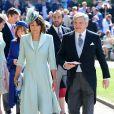 Carole Middleton et Michael Middleton arrivent à la chapelle St. George pour le mariage du prince Harry et de Meghan Markle au château de Windsor, Royaume Uni, le 19 mai 2018.