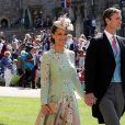 Pippa Middleton et son époux James Matthews à la chapelle St George à Windsor au mariage du prince Harry et de Meghan Markle le 19 mai 2018.
