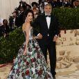 Amal Clooney et son mari George Clooney - Les célébrités arrivent à l'ouverture de l'exposition Heavenly Bodies: Fashion and the Catholic Imagination à New York, le 7 mai 2018