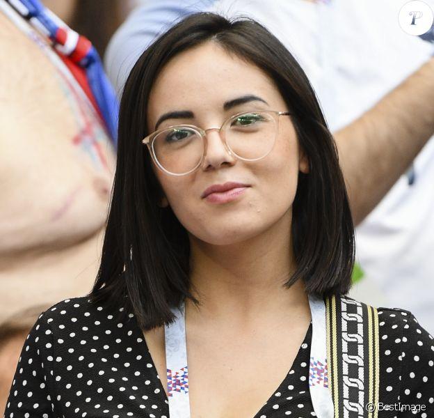 Agathe Auproux - Célébrités dans les tribunes lors du match de coupe du monde opposant la France au Danemark au stade Loujniki à Moscou, Russia, le 26 juin 2018. Le match s'est terminé par un match nul 0-0. © Pierre Perusseau/Bestimage