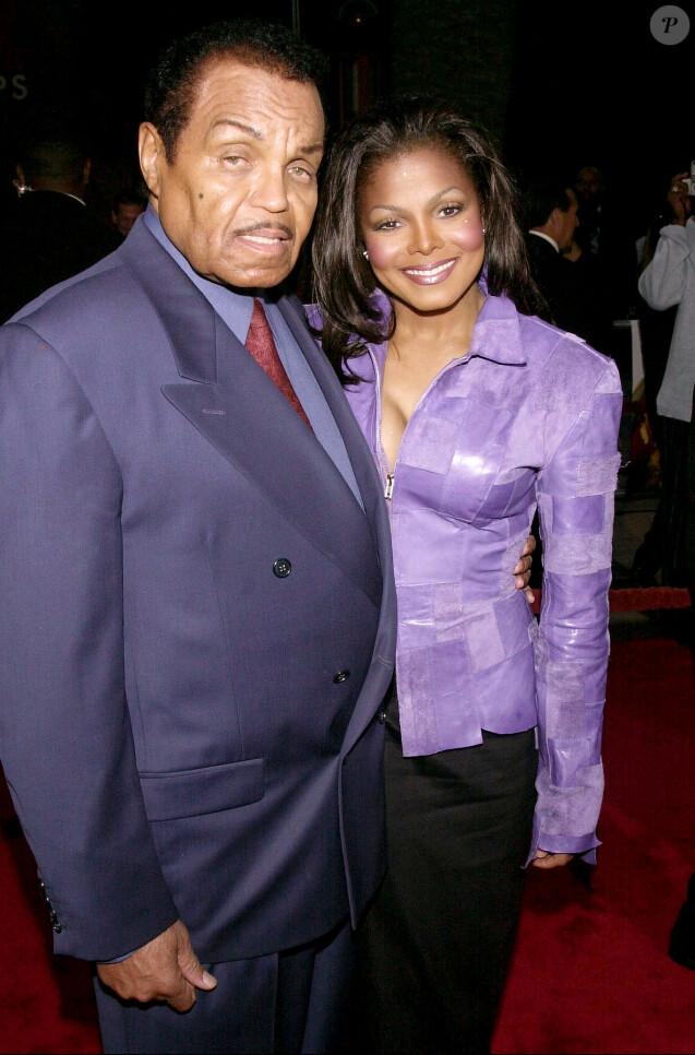 Janet Jackson et son père à Los Angeles en 2000.