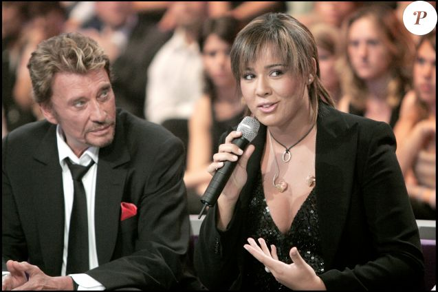 Exclu - Chimène Badi et Johnny Hallyday dans + De vie, à Paris, en 2005
