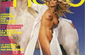Adriana Karembeu : complétement nue... c'est très beau... et c'est tout !