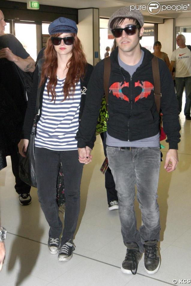 Pete Wentz et Ashlee Simpson quittent l'Australie pour retourner aux Etats-Unis.