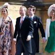 Guy Pelly et sa femme Elizabeth Wilson avec James et Laura Meade au mariage du prince Harry et de Meghan Markle à Windsor le 19 mai 2018.