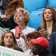 Nathalie Pavard (mère de B.Pavard) et Rachel Legrain-Trapani (Miss France 2007 et compagne de B.Pavard) - Célébrités dans les tribunes lors de la demi-finale de la coupe du monde opposant la France à la Belgique à Saint-Pétersbourg le 10 juillet 2018 © Cyril Moreau/Bestimage