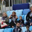 La famille Nzonzi - Célébrités dans les tribunes lors de la demi-finale de la coupe du monde opposant la France à la Belgique à Saint-Pétersbourg le 10 juillet 2018 © Cyril Moreau/Bestimage