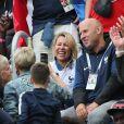 Famille Hernandez - Célébrités dans les tribunes lors de la demi-finale de la coupe du monde opposant la France à la Belgique à Saint-Pétersbourg le 10 juillet 2018 © Cyril Moreau/Bestimage