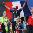 Famille Kimpembe - Célébrités dans les tribunes lors de la demi-finale de la coupe du monde opposant la France à la Belgique à Saint-Pétersbourg le 10 juillet 2018 © Cyril Moreau/Bestimage