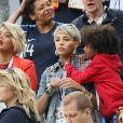 Isabelle Matuidi, femme de B. Matuidi - Célébrités dans les tribunes lors de la demi-finale de la coupe du monde opposant la France à la Belgique à Saint-Pétersbourg le 10 juillet 2018 © Cyril Moreau/Bestimage