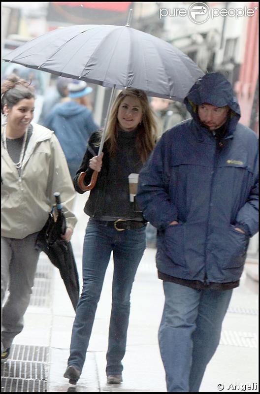 Jennifer Aniston sur le tournage de The Baster à New York le 20 avril 2009