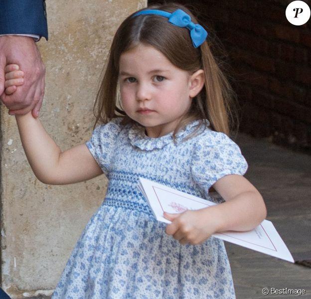 La princesse Charlotte - La famille royale d'Angleterre lors du baptême du prince Louis en la chapelle St James à Londres. Le 9 juillet 2018