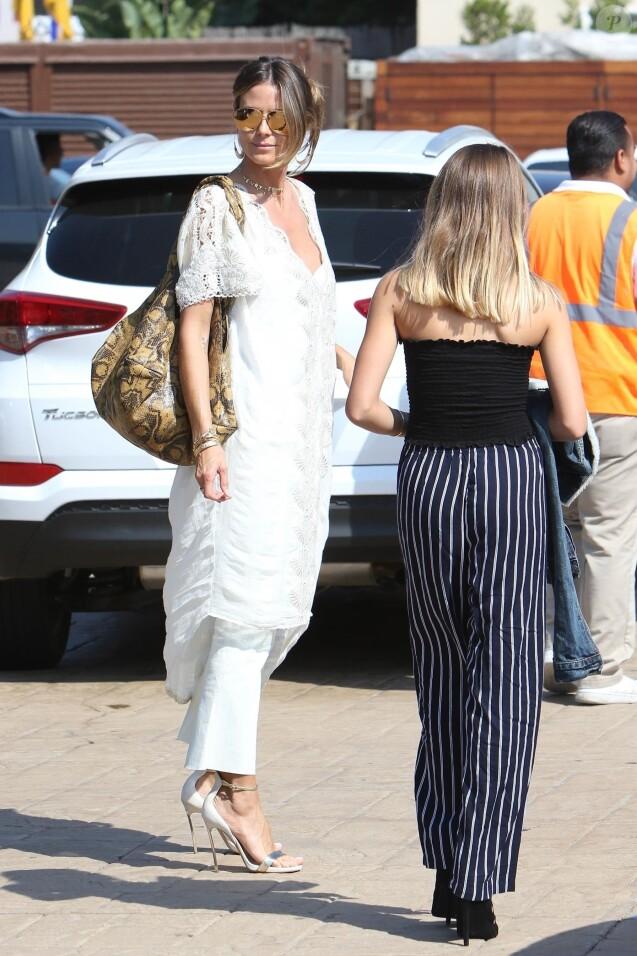 Heidi Klum et sa fille Helene à Malibu, le 1er octobre 2017