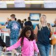 Heidi Klum et sa fille Lou à l'aéroport de JFK à New York, le 19 juillet 2018