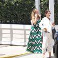 Exclusif - Katie Holmes et Scott Eastwood déjeunent ensemble au restaurant Shutters sur la plage de Santa Monica à Los Angeles. Le 23 juillet 2018
