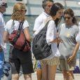 L'infante Elena d'Espagne et sa fille Victoria Federica de Marichalar et Bourbon assistant à la 37e Copa del Rey à Palma de Majorque, le 29 juillet 2018.