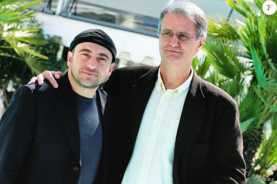 Patrick Timsit avecPierre Boutronau Martinez Hotel durant le MIPTV 2005 de Cannes.