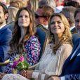 La princesse Madeleine de Suède et Christopher O'Neill lors des célébrations du 41e anniversaire de la princesse Victoria à Borgholm le 14 juillet 2018.