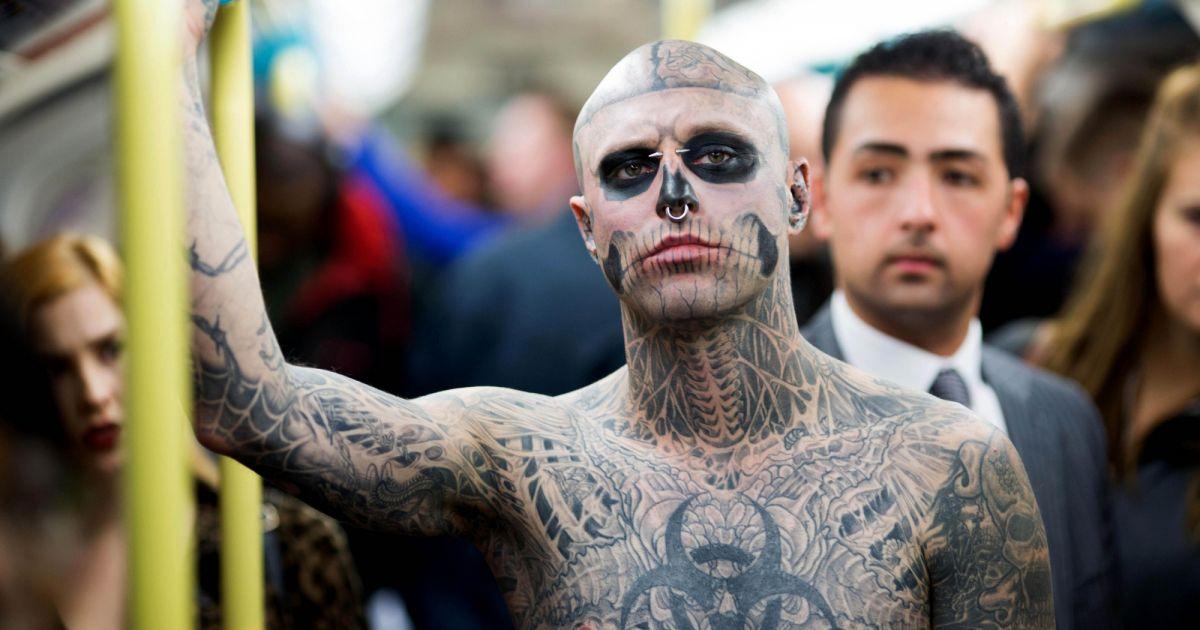 Mort De Rick Genest Decouvrez Le Visage De Zombie Boy Avant Les