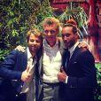 """Martin Bazin, Denis Brogniart et Laurent Maistret le jour de la finale de """"Koh-Lanta 2014"""" - Instagram, 23 novembre 2014"""