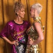 Céline Dion : Paillettes et coiffure ébouriffante pour rencontrer Katy Perry