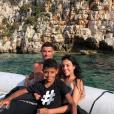 Cristiano Ronaldo et Georgina Rodriguez avec Cristiano Jr. en vacances en Grèce, photo Instagram du 10 juillet 2018