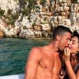 Cristiano Ronaldo et Georgina Rodriguez en vacances en Grèce, photo Instagram du 8 juillet 2018