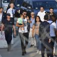 Cristiano Ronaldo et sa famille arrivant à Turin le 29 juillet 2018.