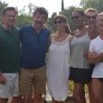 KCyril Rouquet Prevost (Masterchef), Stéphane Plaza, Mathilda May, Karine Le Marchand, Jeanfi Janssens et Laurent Petitguillaume lors de leurs vacances à Saint-Rémy-de-Provence en août 2018, photo Instagram.