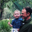 """Christopher Froome (en plein """"quality time"""" avec son fils Kellan en janvier 2018, photo Instagram) et sa femme Michelle ont accueilli le 1er août 2018 leur second enfant, une petite fille prénommée Katie."""