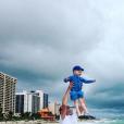 Christopher Froome (avec son fils Kellan à Miami en novembre 2017, photo Instagram) et sa femme Michelle ont accueilli le 1er août 2018 leur second enfant, une petite fille prénommée Katie.