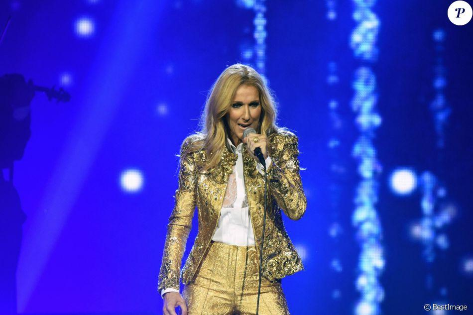 """Celine Dion en concert lors de sa tournée """"Celine Dion Live 2018"""" au Qudos Bank Arena de Sydney en Australie le 27 juillet 2018."""