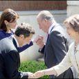 Carla Bruni, le roi Juan Carlos, Nicolas Sarkozy et la reine Sofia, au Palais Zarzuela de Madrid, le 27 avril 2009 !