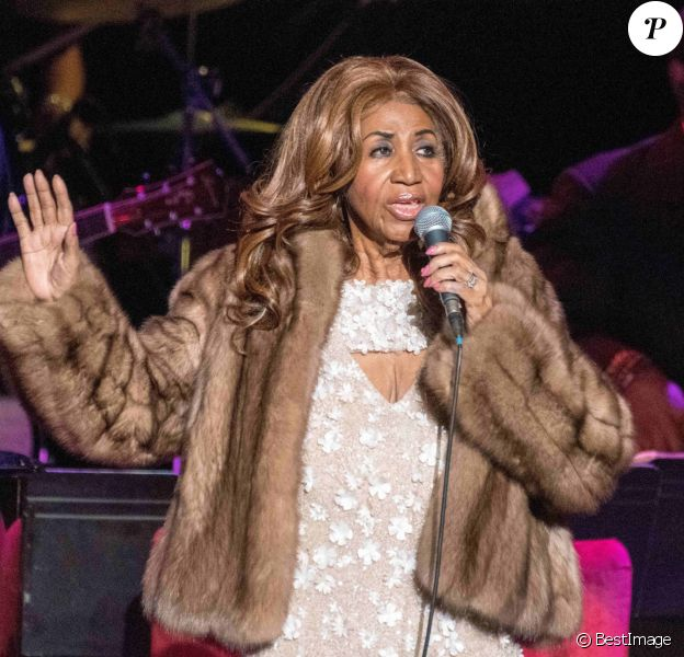 Aretha Franklin en concert au Mann Center For The Performing Arts à Philadelphie. Le 26 août 2017 © Ricky Fitchett / Zuma Press / Bestimage