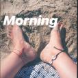 Alizée sur une plage corse le 13 août 2018.