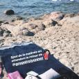 Alizée, tranquille sur une plage corse le 13 août 2018.