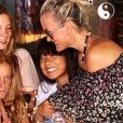Jade Hallyday fête ses 14 ans avec sa mère Laeticia et ses amies à Saint-Barthélemy le 3 août 2018.