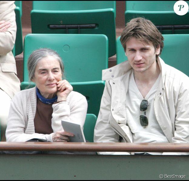 Stanislas Merhar et sa mère à Roland Garros en 2007.