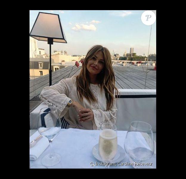 Caroline Receveur à Paris - Instagram, 2 août 2018