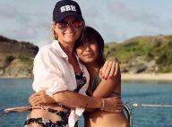 Laeticia, Jade et Joy Hallyday en bikini à Saint-Barth, elle profitent de la vie