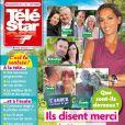 """Couverture du prochain """"Télé Star"""" en kiosques le 27 août 2018."""