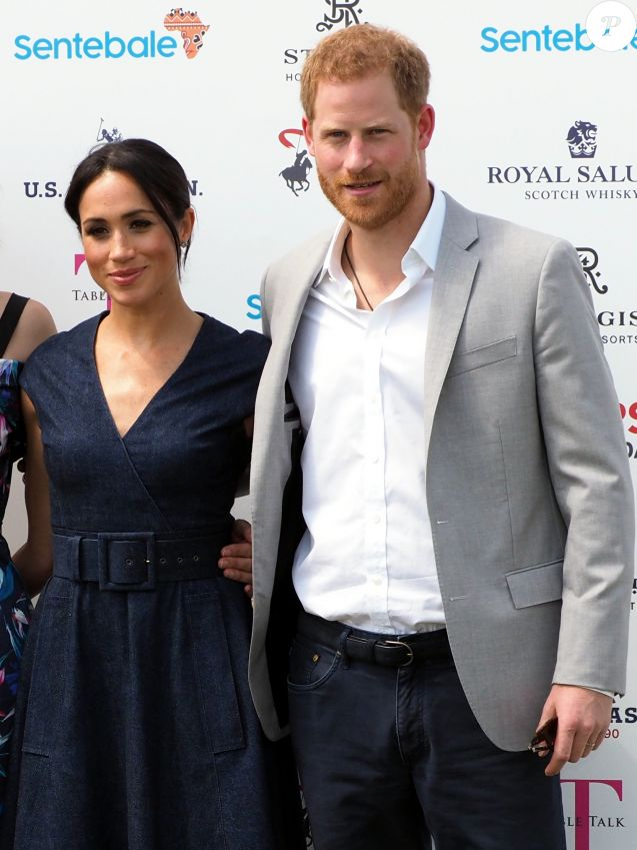 Le prince Harry, duc de Sussex et Meghan Markle, la Duchesse de Sussex arrivent à la Royal Berkshire Polo Cup où le Duc participe aujourd'hui à la Coupe ISP Hanz de Sentebale à Windsor au Royaume-Uni, le 26 juillet 2018.