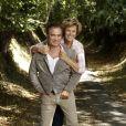 """Fabien Lecoeuvre et sa compagne Anne Richard - """"Les écrivains chez Gonzague Saint Bris"""" - 1ère édition à Chanceaux-près-Loches, le 26 août 2018. © Cédric Perrin/Bestimage"""