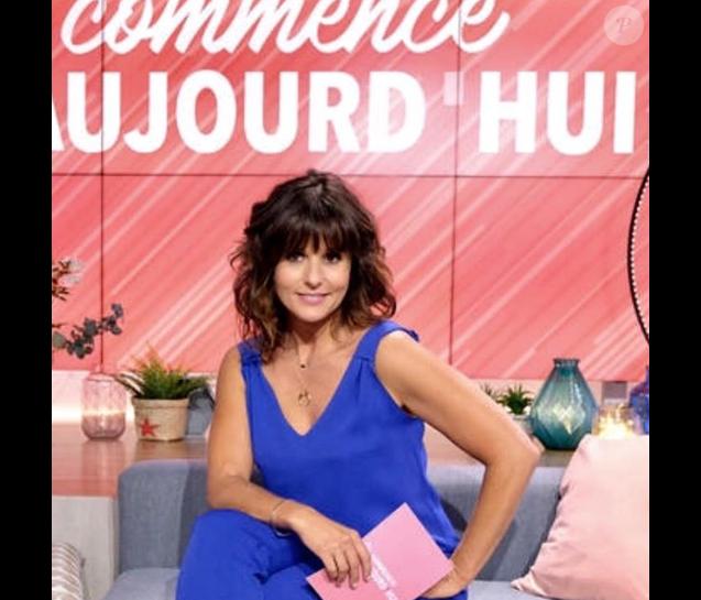 Faustine Bollaert et sa nouvelle coupe sur France 2, le 27 août 2018.