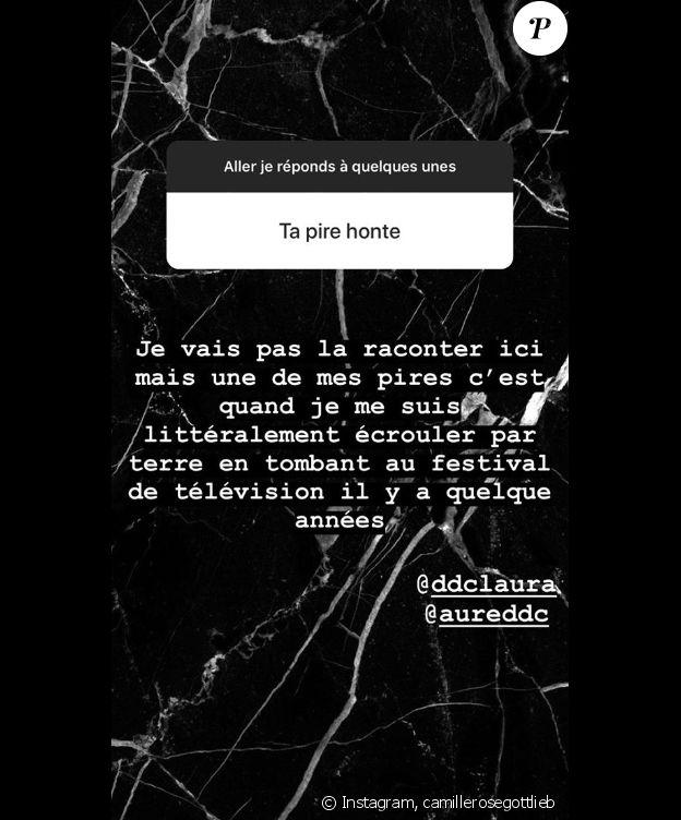 Camille Gottlieb sur Instagram, le 29 août 2018.
