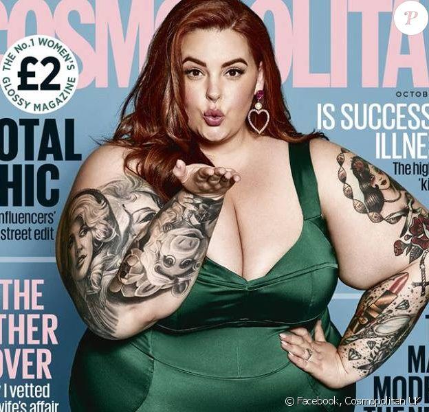 Tess Holliday en couverture du magazine Cosmopolitan UK. Numéro d'octobre 2018.
