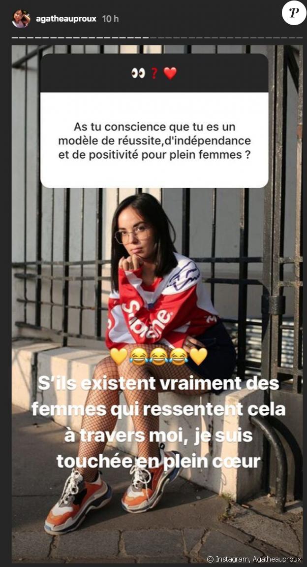 Agathe Auproux répond à ses fidèles supportrices sur Instagram. Août 2018.
