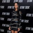 """Zoe Saldana affiche sa ligne svelte et parfaite, à l'occasion de l'avant-première de """"Star Trek"""", au Grauman's Chinese Theatre de Los Angeles, le 30 avril 2009 !"""