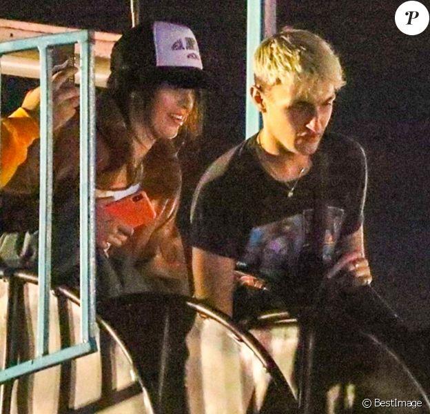 Exclusif - Kendall Jenner et Anwar Hadid au parc d'attraction Malibu Chill Cook-Off à Malibu, le 31 aout 2018.