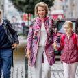 La reine Mathilde de Belgique accompagne ses enfants, le prince Gabriel et la princesse Eleonore à l'école à Bruxelles le 3 septembre 2018. 03/09/2018 - Bruxelles
